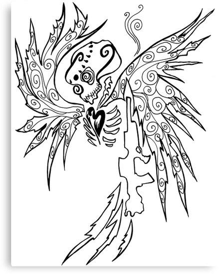 Angel And Gun Canvas Prints By Kimberlee Traub