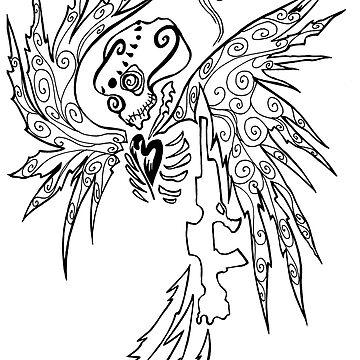Angel and Gun by traubk
