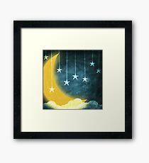 moon and stars Framed Print