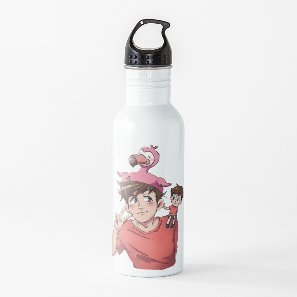 Flamingo Youtube Water Bottle