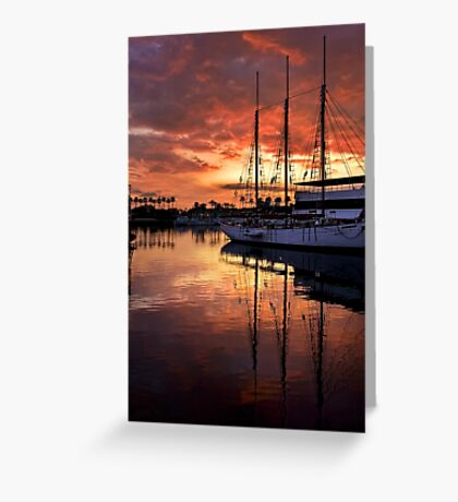 Rainbow Harbor Sunset Greeting Card
