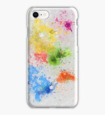 world map painting iPhone Case/Skin