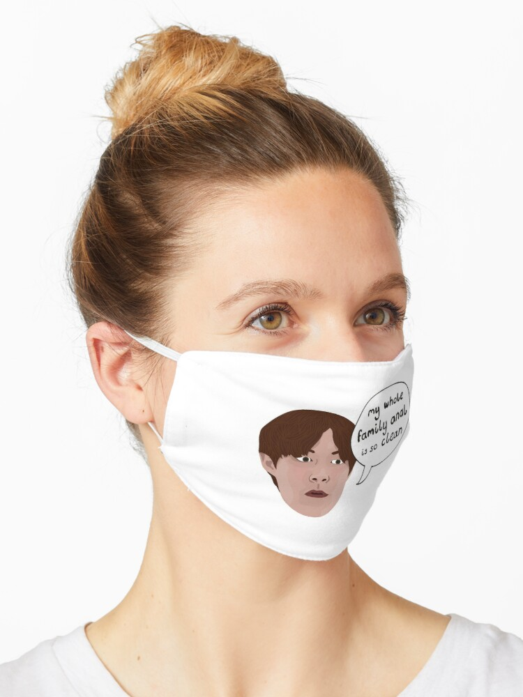 Jihoon 90 Day Fiance My Whole Family Anal Is So Clean Mask By Ponychops Redbubble
