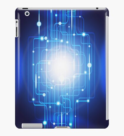 abstract circuit board iPad Case/Skin