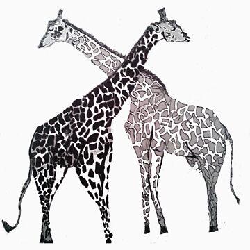 Giraffe Hugs by chrine89