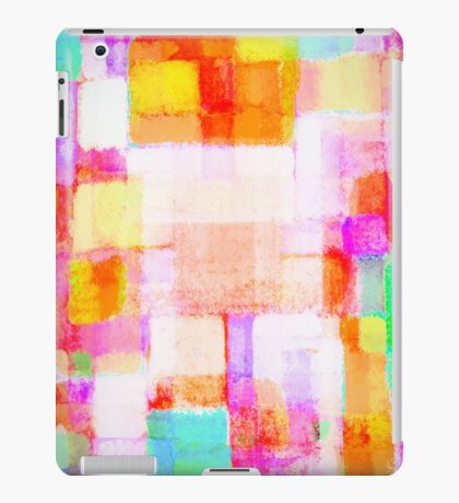 abstract geometric colorful pattern iPad Case/Skin