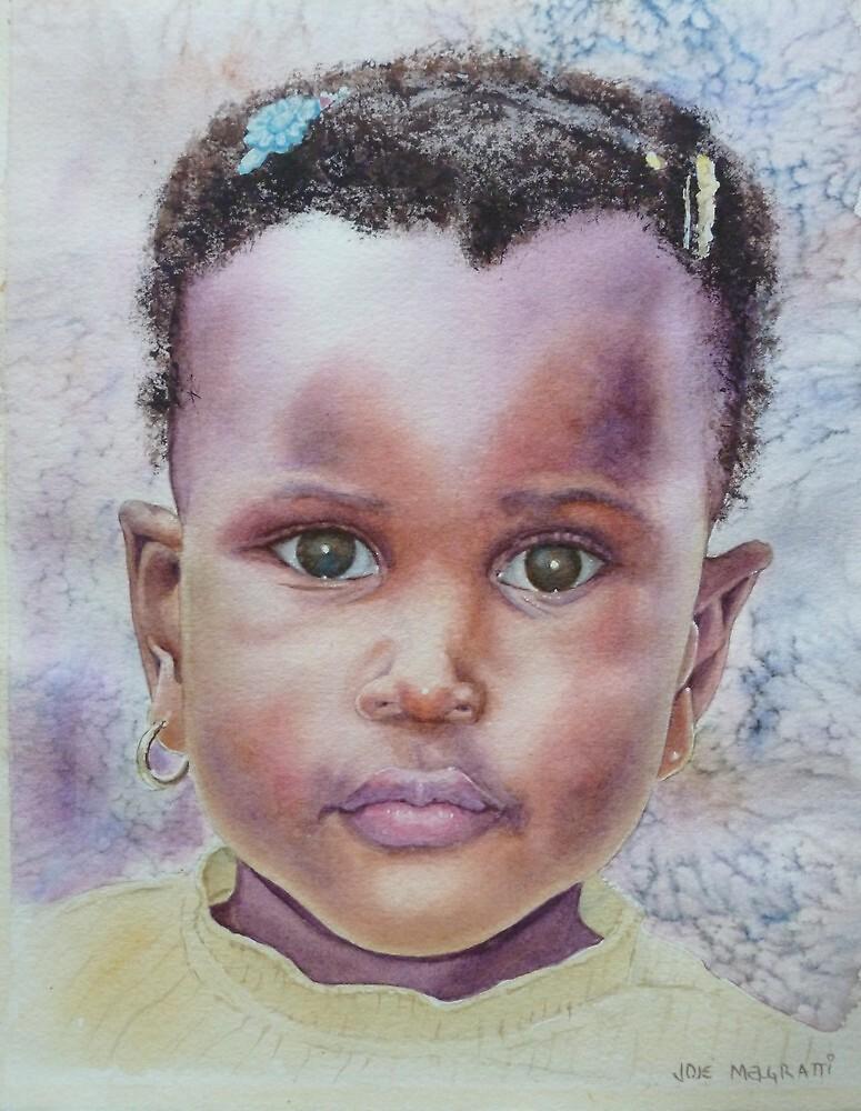 Toddler Girl Portrait by jadlart