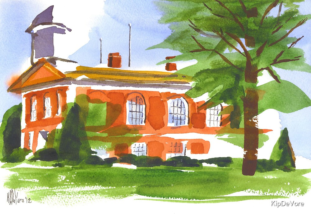 Courthouse on a Summer's Evening by KipDeVore