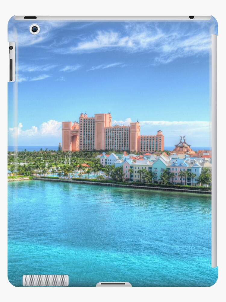 Atlantis and Harbour Village in Paradise Island, The Bahamas | iPad Case by Jeremy Lavender Photography
