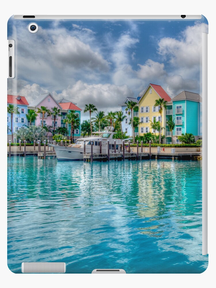 Harbor Village in Paradise Island, The Bahamas | iPad Case by Jeremy Lavender Photography