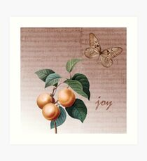 Inspired Joy Apricots Art Print