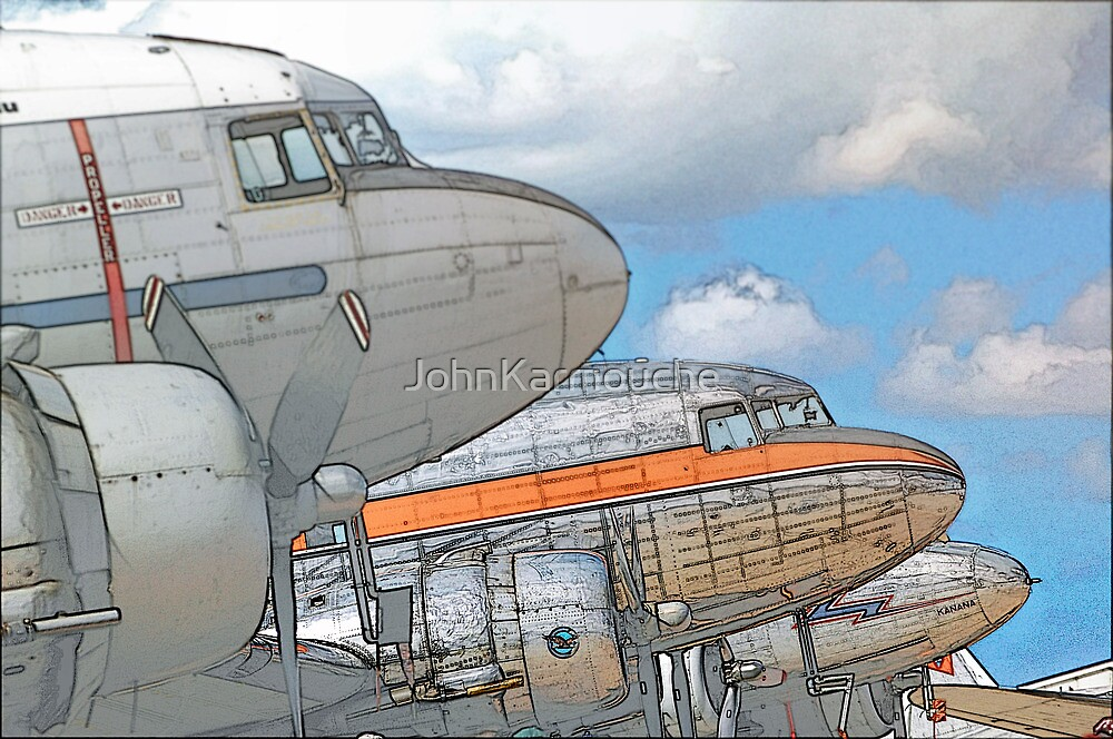 DC3s in Profile by JohnKarmouche