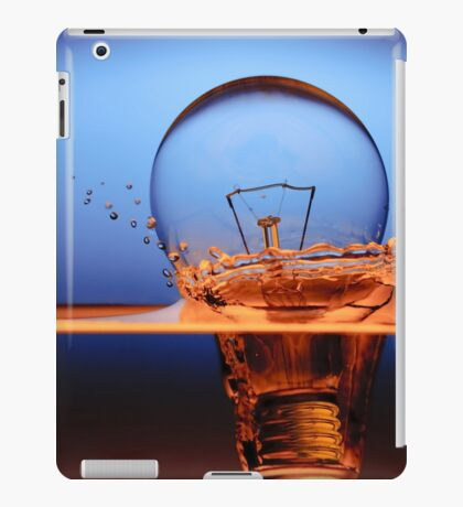 light bulb shot through the water iPad Case/Skin