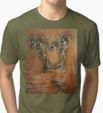 Troubled Heart (Image and Poem) Tri-blend T-Shirt