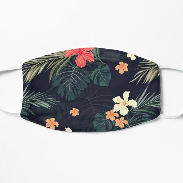 Dark tropical flowers Mask