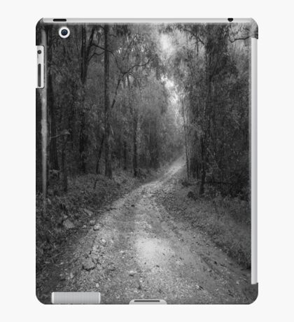 road way in deep forest iPad Case/Skin