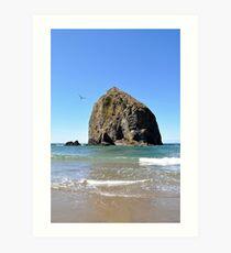 Canon Beach Haystack Art Print