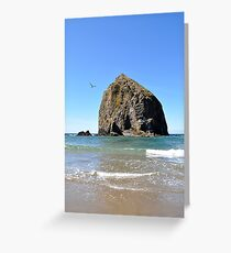 Canon Beach Haystack Greeting Card