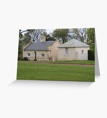Woolmers Bakehouse Cottages in Tasmania - A World Heritage Listed Site Greeting Card