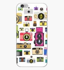 vintage camera pattern iPhone Case