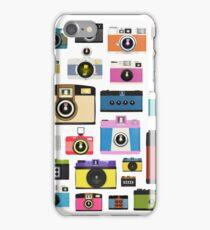 vintage camera pattern iPhone Case/Skin