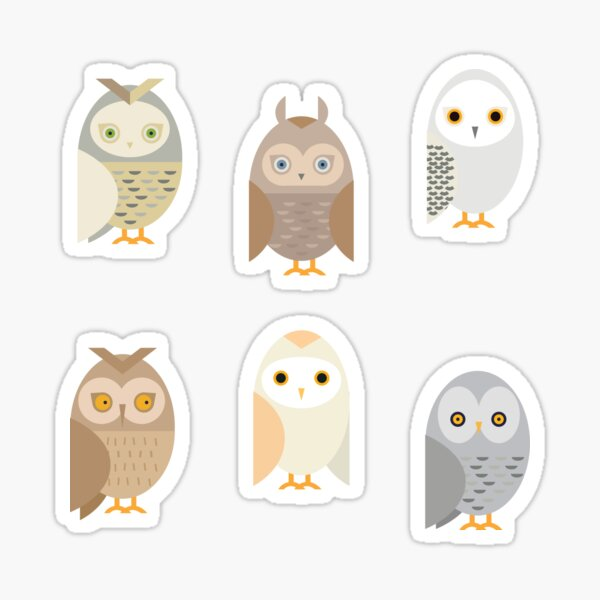 Owl Stickers for Journals / Planners / Scrapbooking Sticker