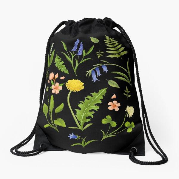 Nordic Spring Botanicals Drawstring Bag