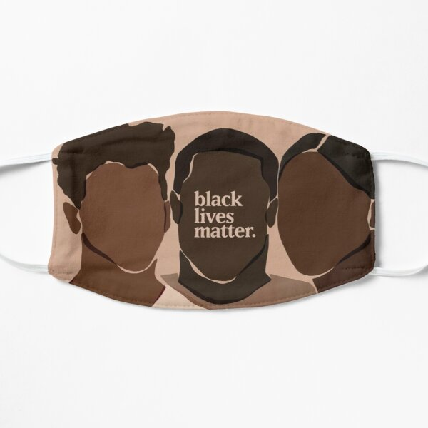 black lives matter Flat Mask