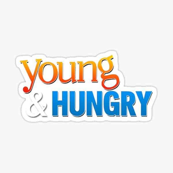 young & hungry  Sticker