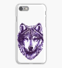 Timber Wolf-Purple iPhone Case/Skin