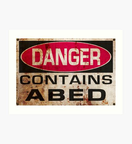 DANGER! Contains nerd Art Print