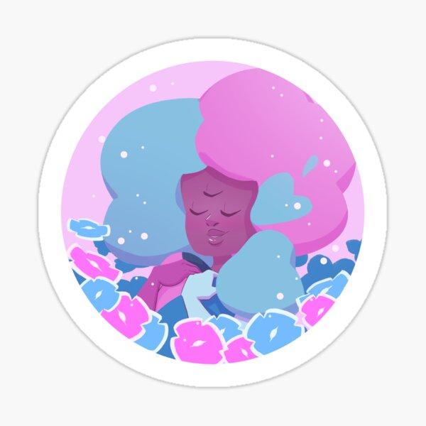 Pastel Cotton Candy Garnet portrait Sticker