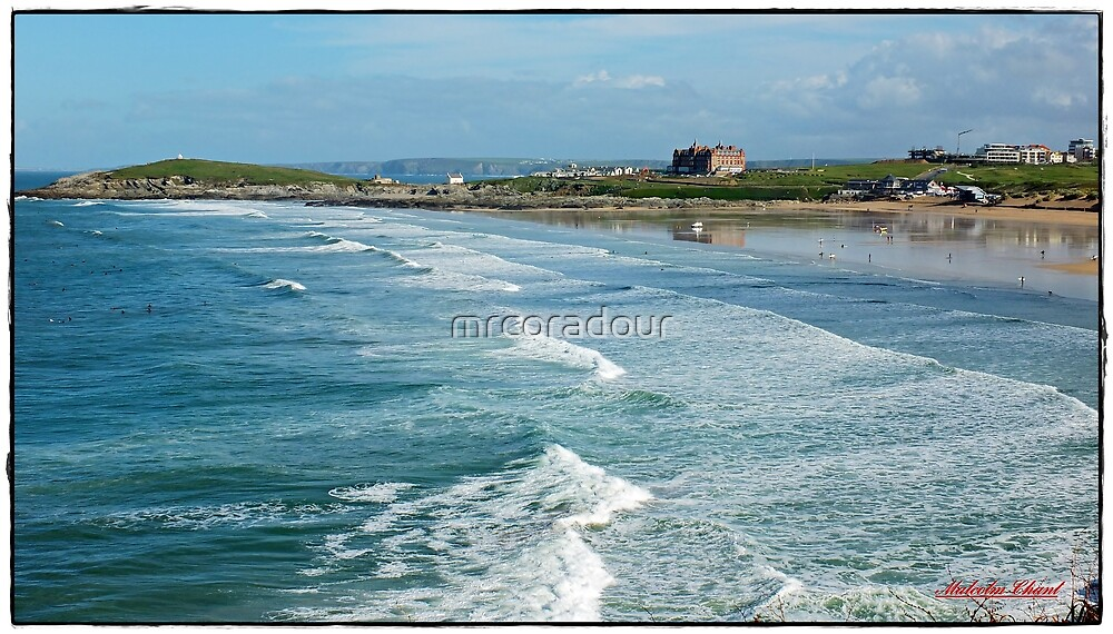 """Newquays Fistral beach"""" by Malcolm Chant"""