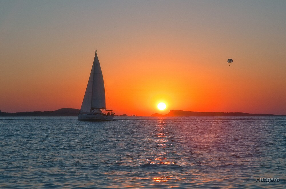 Beautiful IBIZA Sunset San Antonio Bay by Hungaro