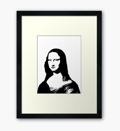 Smokin' Mona Framed Print