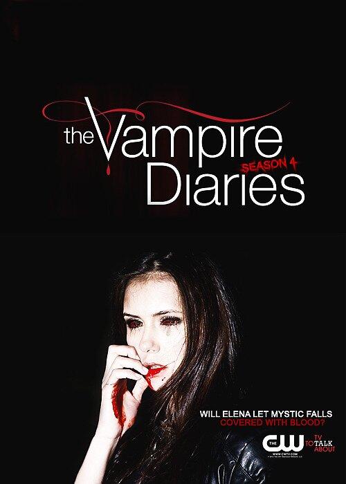 The Vampire Diaries @ Elena as Vampire Poster by Stewark