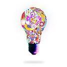 light bulb made by gear wheel by naphotos
