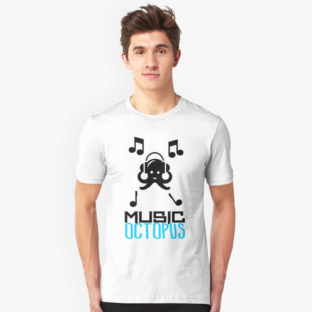 Music Octopus Unisex T-Shirt Front