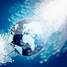 globe with fiber optics by naphotos