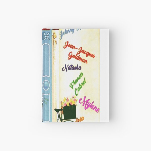 Cool Parisian Music Shop Image Hardcover Journal