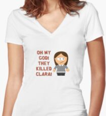 Oh My God! They Killed Clara! Women's Fitted V-Neck T-Shirt