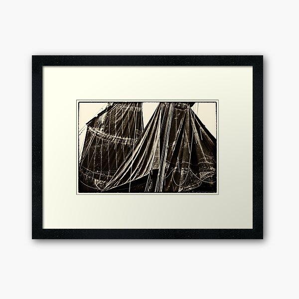 Sails, The Belle Angel  2012 Framed Art Print