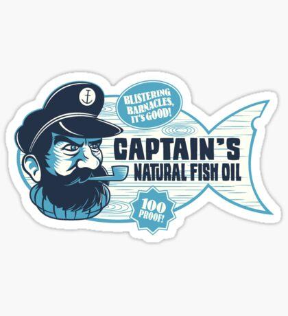 Captain's Fish Oil Sticker