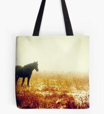 Amish Percherons Tote Bag