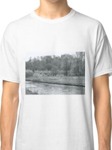 Early Spring in England Black and White Classic T-Shirt