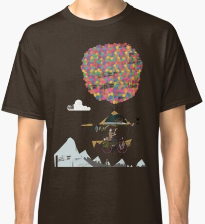 Riding A Bicycle Through The Mountains Classic T-Shirt
