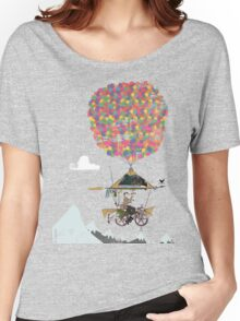 Riding A Bicycle Through The Mountains Women's Relaxed Fit T-Shirt