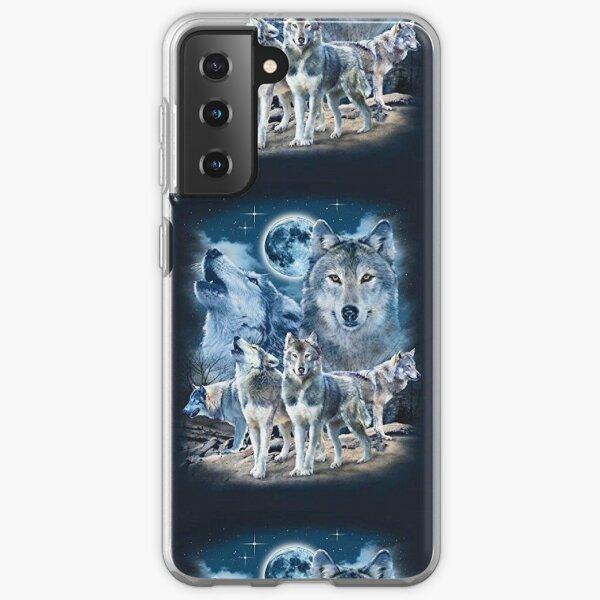 Wolf Fox 3 Wolf Animal Graphics Art Samsung Galaxy Soft Case