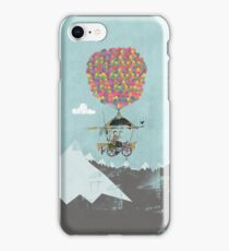 Riding A Bicycle Through The Mountains iPhone Case/Skin