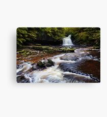 West Burton Falls (Cauldron Falls) - The Yorkshire Dales Canvas Print